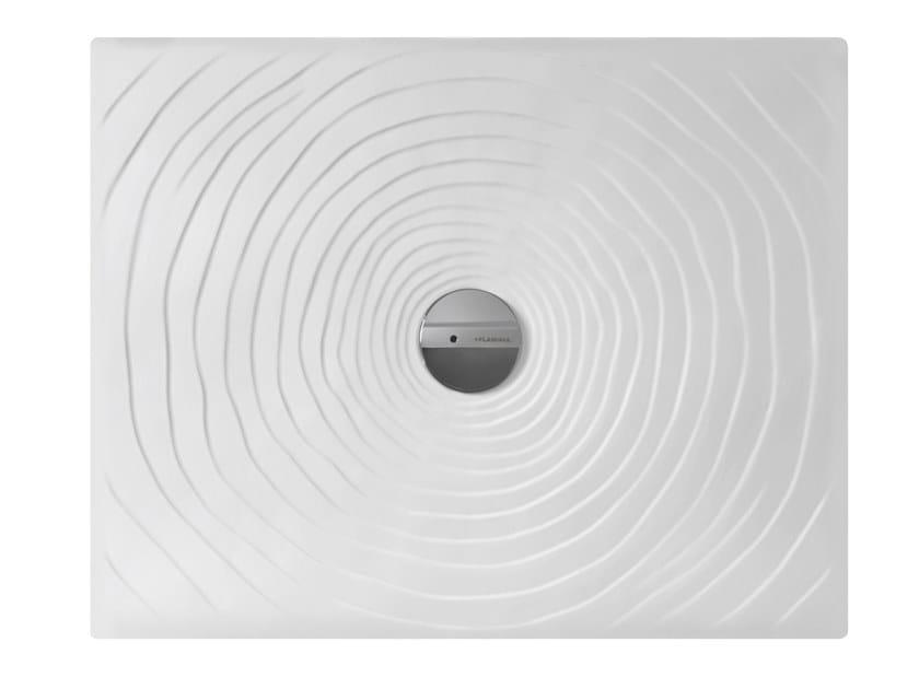 Piatti Doccia Ceramica Flaminia.Piatto Doccia In Ceramica Water Drop 90 X 72 Collezione