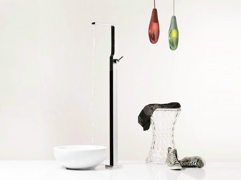 Chrome-plated floor standing single handle washbasin tap WATERBLADE J   Floor standing washbasin mixer by RITMONIO