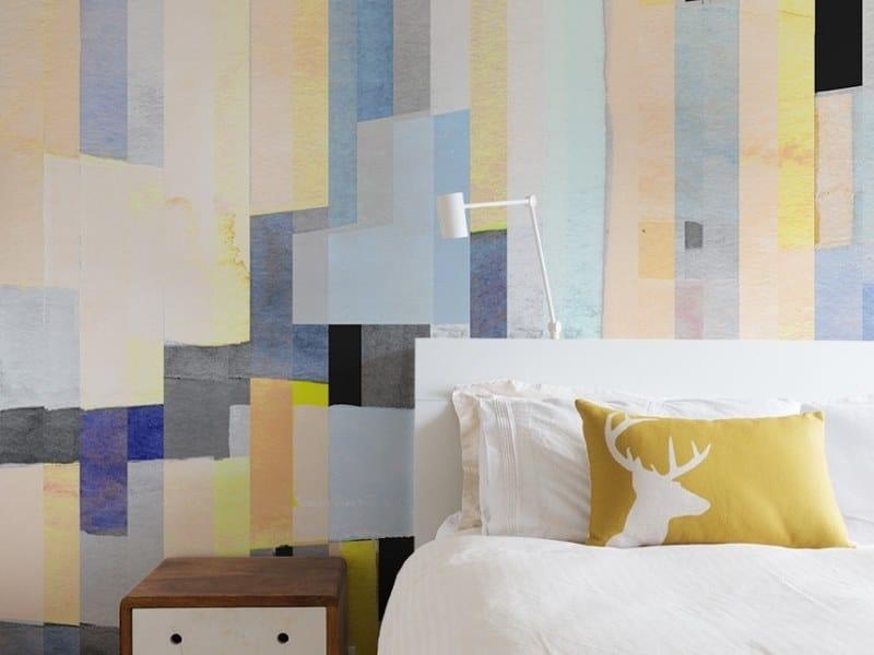 Geometric panoramic JET TEX wallpaper GRAPHIC | Watercolor 02 by ACTE-DECO