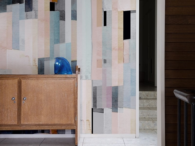 Geometric panoramic JET TEX wallpaper GRAPHIC | Watercolor 05 by ACTE-DECO