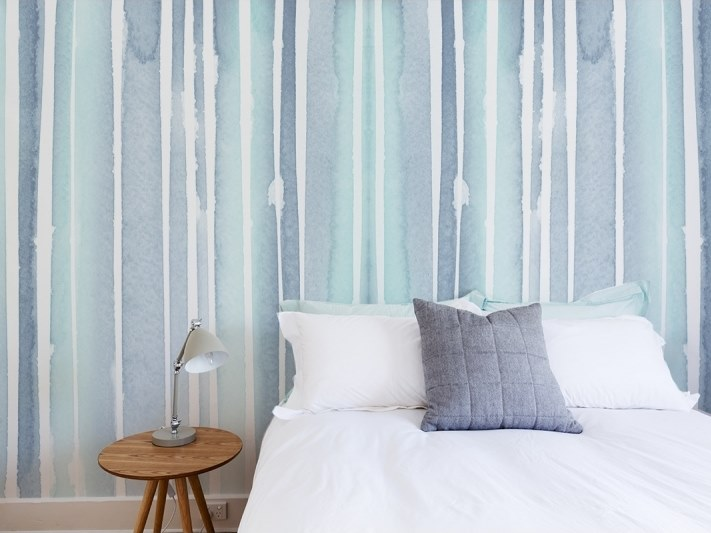 Striped panoramic JET TEX wallpaper GRAPHIC | Watercolor 06 by ACTE-DECO