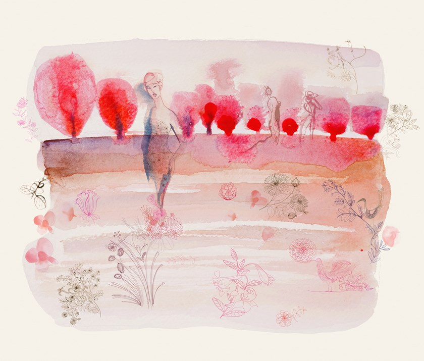 WATERCOLOR AND CHERRY BLOSSOM