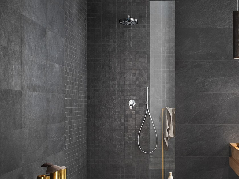 Porcelain stoneware wall/floor tiles with stone effect WATERFALL DARK FLOW by LEA CERAMICHE