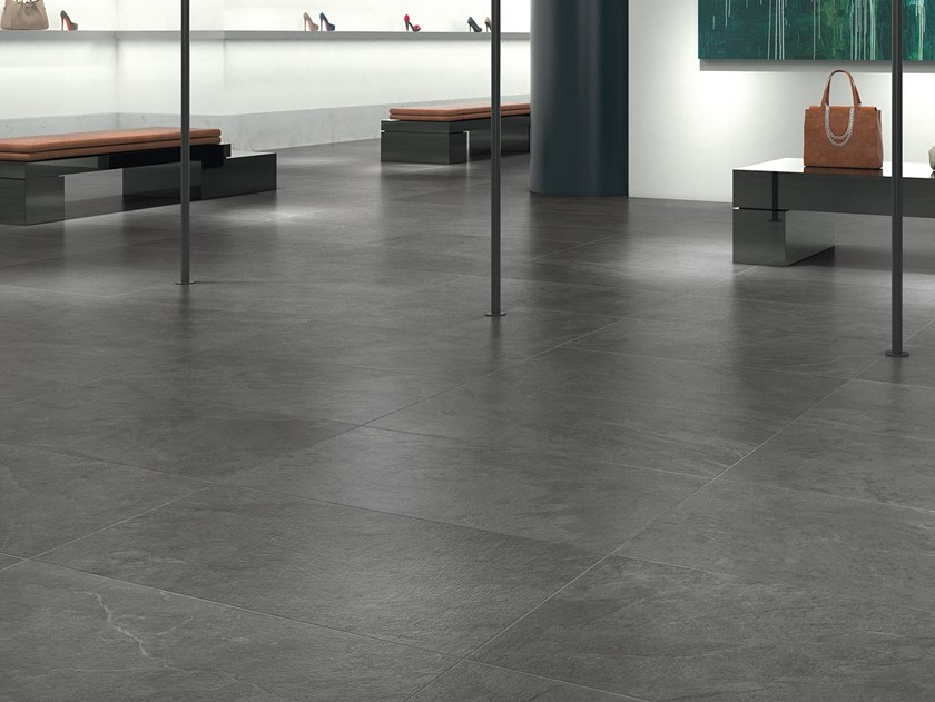 Porcelain stoneware wall/floor tiles with stone effect WATERFALL GRAY FLOW by LEA CERAMICHE
