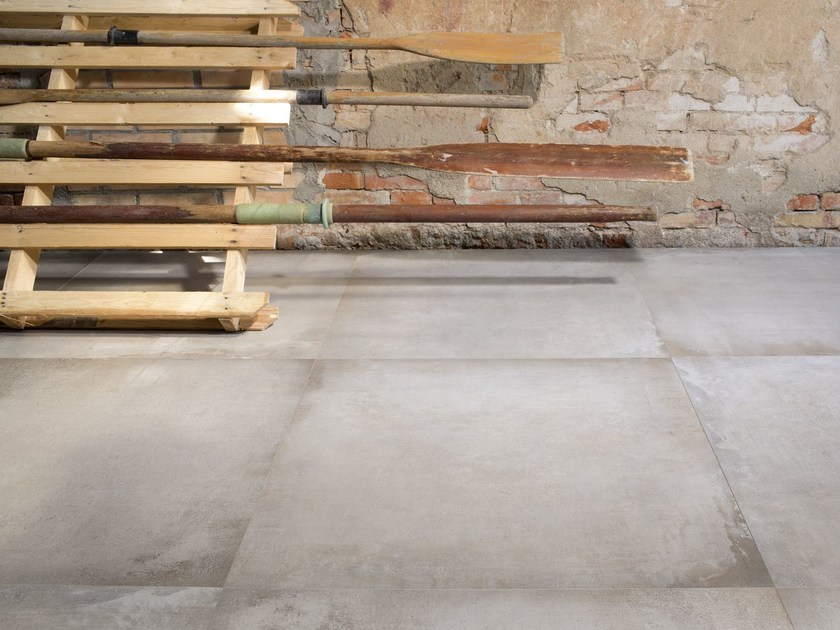 Porcelain stoneware flooring with concrete effect WATERFRONT by Ceramica d'Imola
