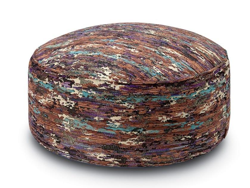 Pallina Pouf in jacquard fabric WATERLOO | Pouf by MissoniHome