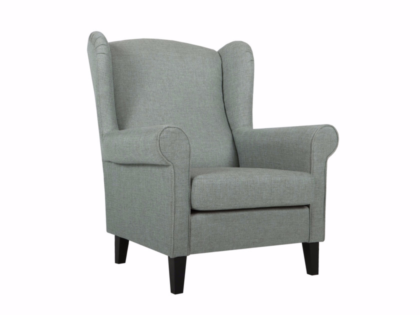 Upholstered fabric armchair with armrests WATSON by SITS