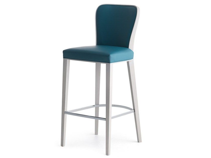 High upholstered stool WAVE 02781 by Montbel