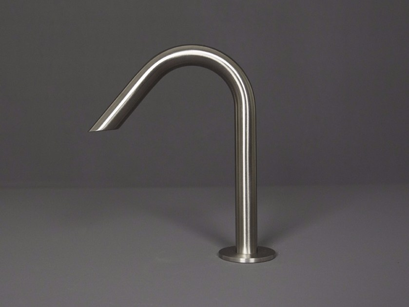 Deck-mounted stainless steel bidet spout WAVE - 1220031/2 by RIFRA