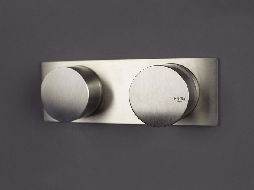 Stainless steel shower mixer with diverter WAVE - 1220241/2 by RIFRA