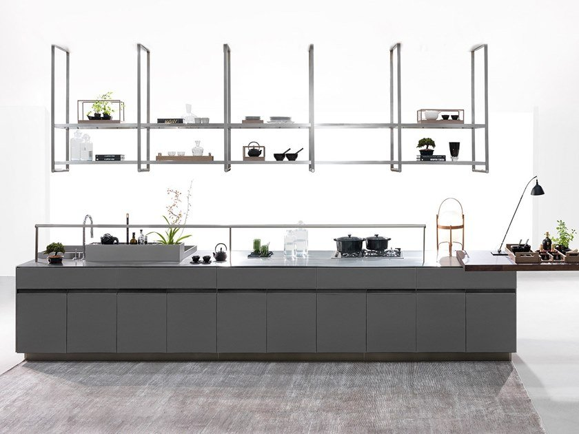 Fitted kitchen with island WAVE GOURMET | Kitchen by Ornare
