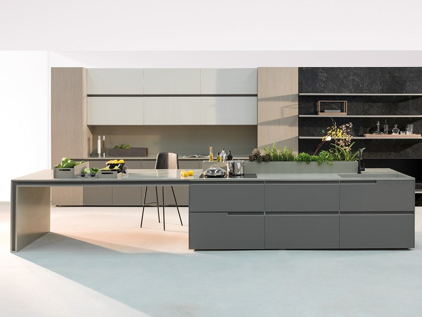 Fitted kitchen with island WAVE | Kitchen by Ornare