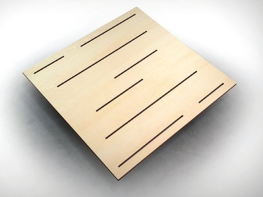 Wooden decorative acoustical panel WAVELINE BC TECH by Vicoustic by Exhibo
