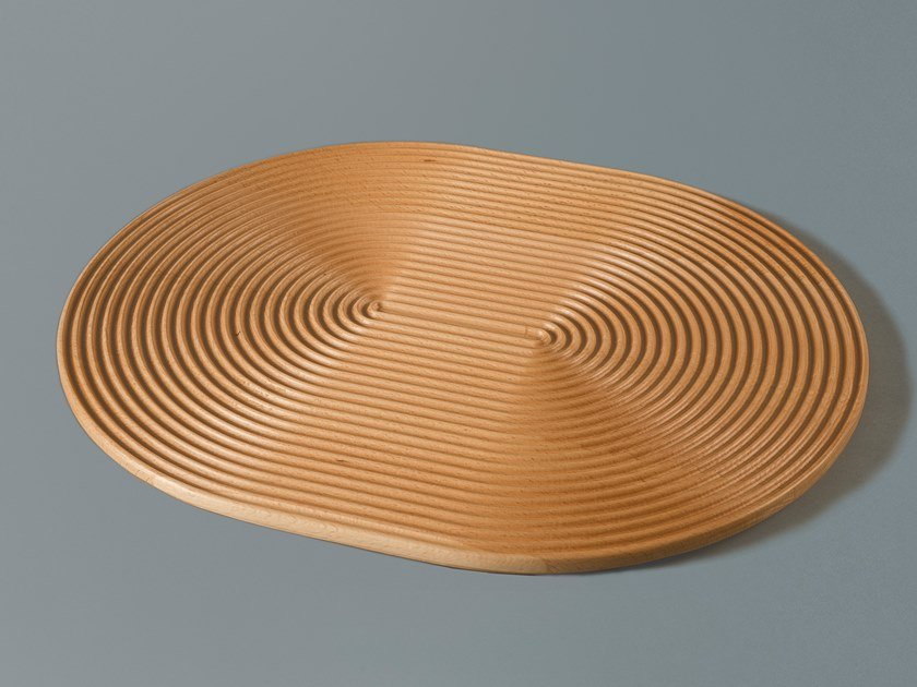Oval solid wood tray WAVES LONG by Milla & Milli
