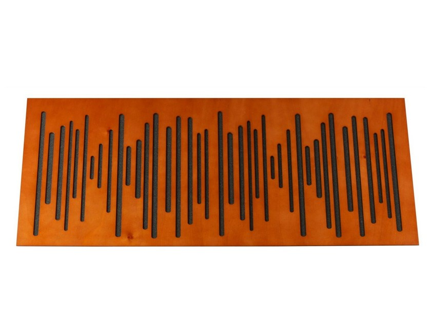 MDF decorative acoustical panel WAVEWOOD 120 by Vicoustic by Exhibo