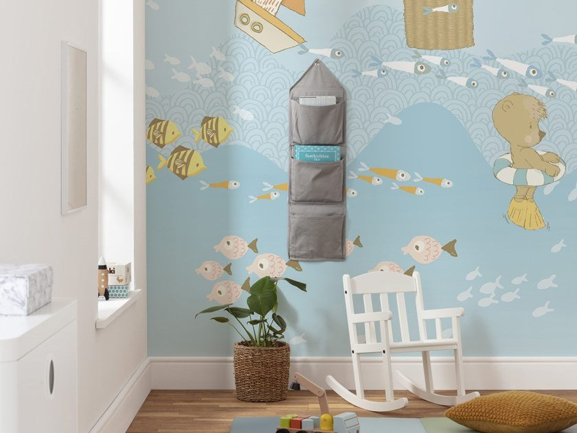 Nonwoven kids wallpaper WAVY VENTURE by Komar