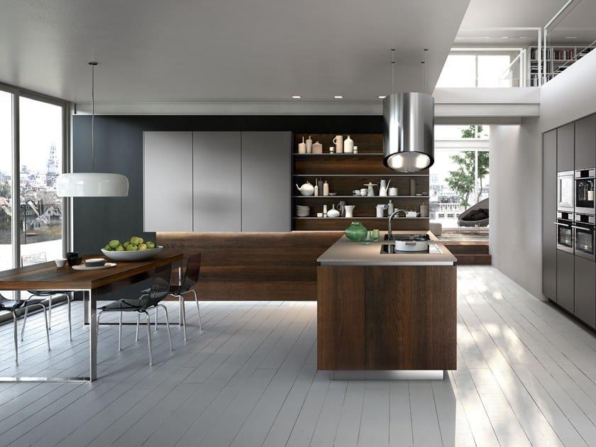 Wooden fitted kitchen WAY | Kitchen by Snaidero