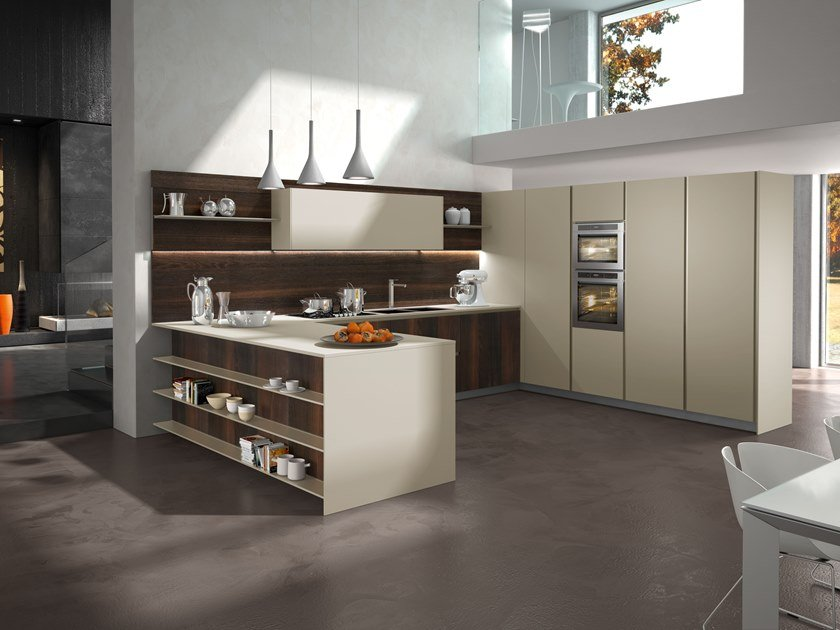 Wooden fitted kitchen WAY | Kitchen by Snaidero