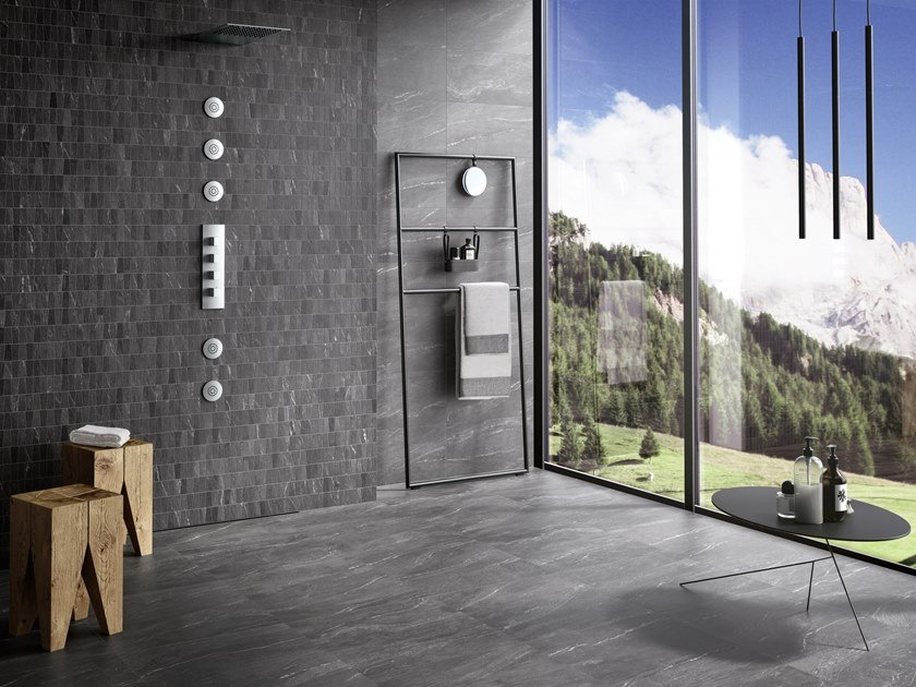 Porcelain stoneware wall/floor tiles with stone effect WAYSTONE DARK by CERAMICA SANT'AGOSTINO