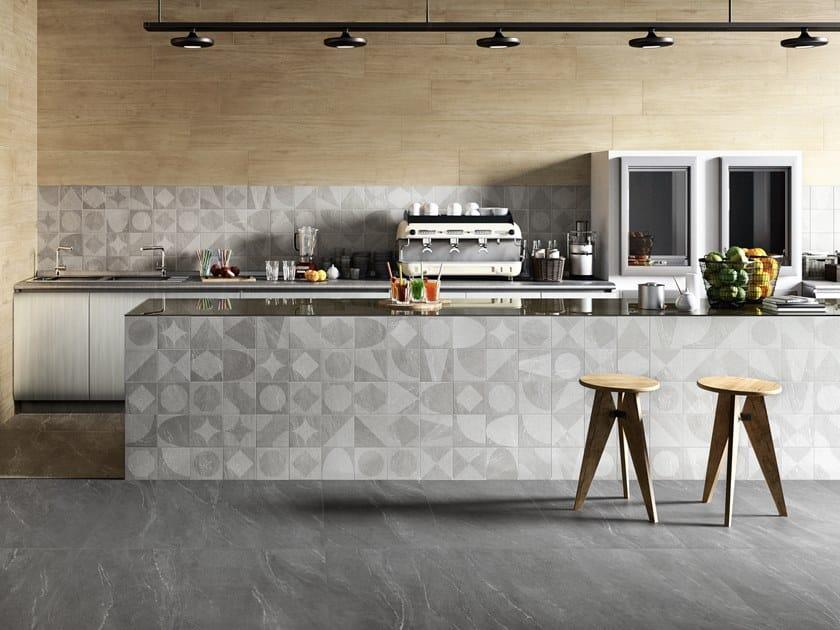Pavimento/rivestimento in gres porcellanato effetto pietra WAYSTONE DECOR COLD by CERAMICA SANT'AGOSTINO