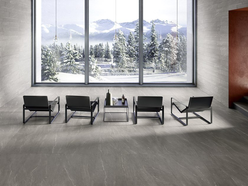 Porcelain stoneware wall/floor tiles with stone effect WAYSTONE GREY by CERAMICA SANT'AGOSTINO