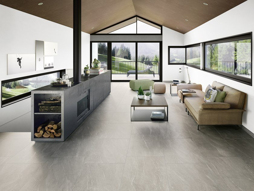 Porcelain stoneware wall/floor tiles with stone effect WAYSTONE PEARL by CERAMICA SANT'AGOSTINO