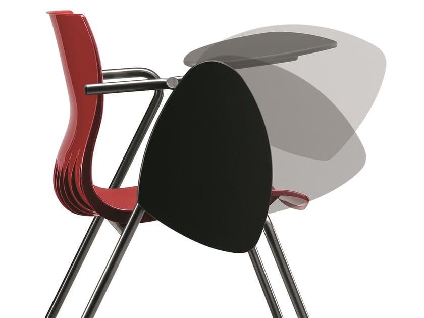 Avec Conférence Tablette Chaise De En Accoudoirs Plastique Ok80nwP
