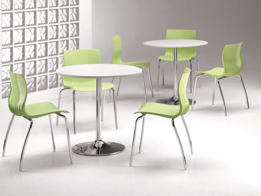 Stackable plastic chair WEBBY 333 by TALIN