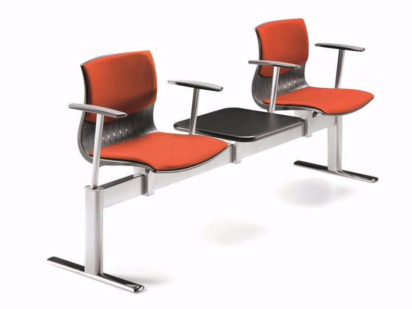 Seduta su barra a pavimento in tessuto con braccioli WEBBY 336 B2 TS by TALIN