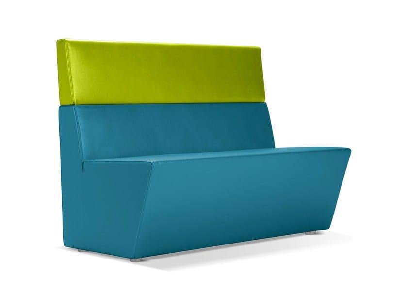 Upholstered sofa WEDGE | Leisure sofa by Domingo Salotti