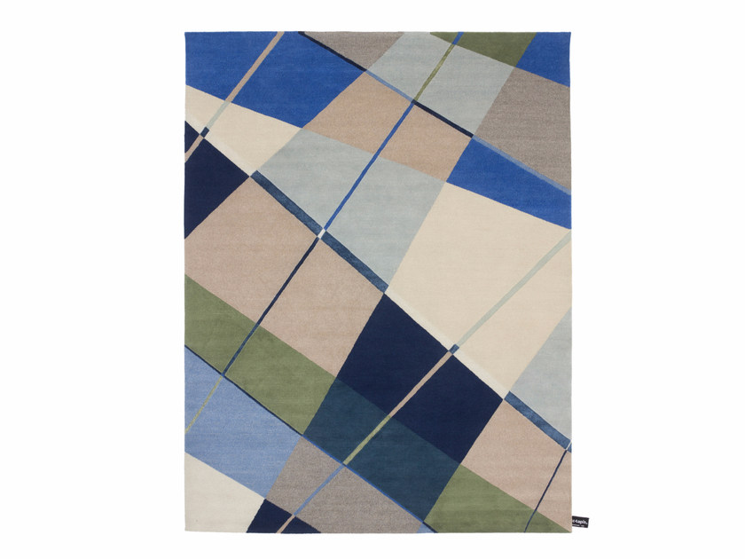 Handmade custom rug WEFT TO WARP by cc-tapis