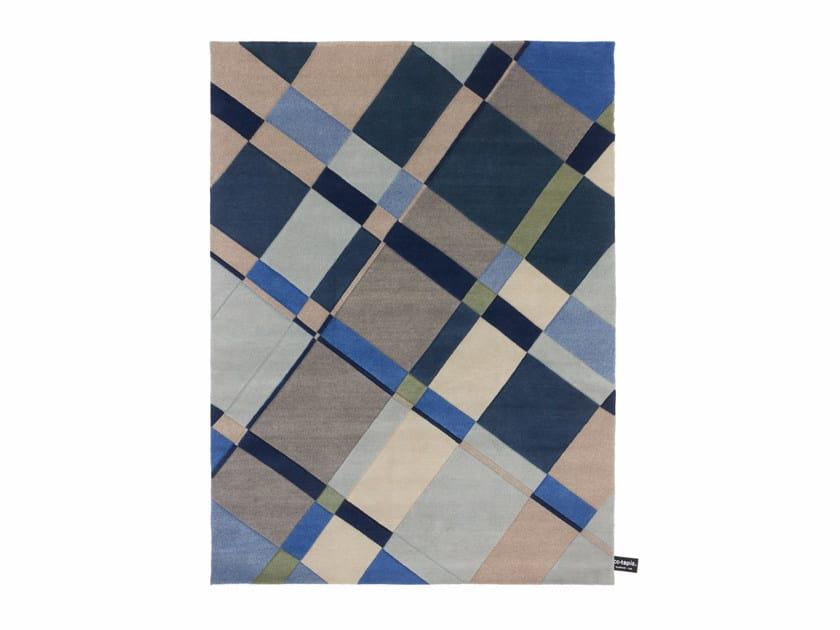 Handmade custom rug WEFT TO WARP MIX by cc-tapis