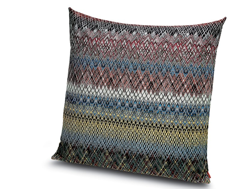 Cushion in jacquard fabric with shaded zigzags WEIMAR by MissoniHome