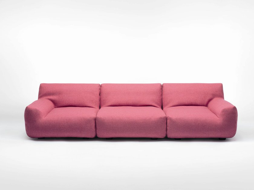 Sectional 4 seater fabric sofa with removable cover WELCOME | 4 seater sofa by paola lenti