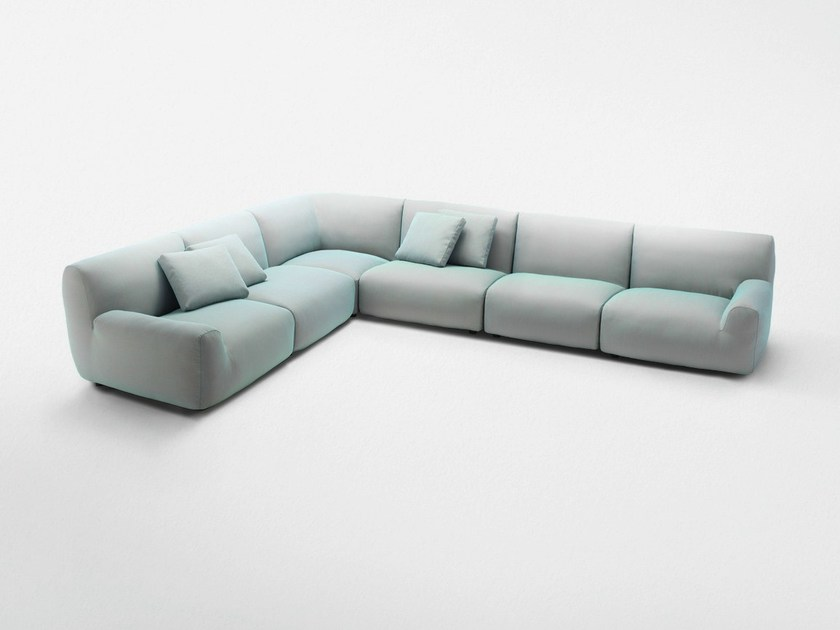 Sectional sofa with removable cover WELCOME | Corner sofa by paola lenti
