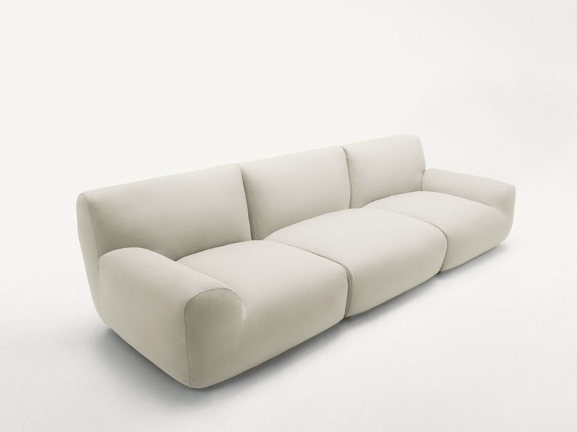 3 seater fabric sofa with removable cover WELCOME | 3 seater sofa by paola lenti