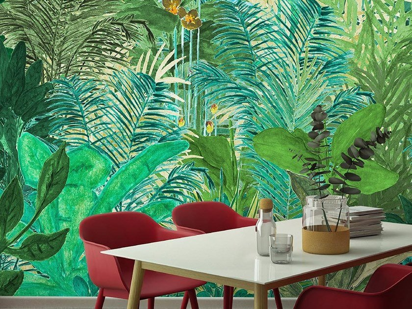 Tropical wallpaper, PVC free, eco, washable WELCOME TO THE JUNGLE by Wallpepper