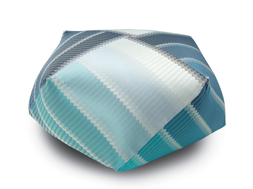 Diamante Pouf in jacquard fabric WELLS | Pouf by MissoniHome