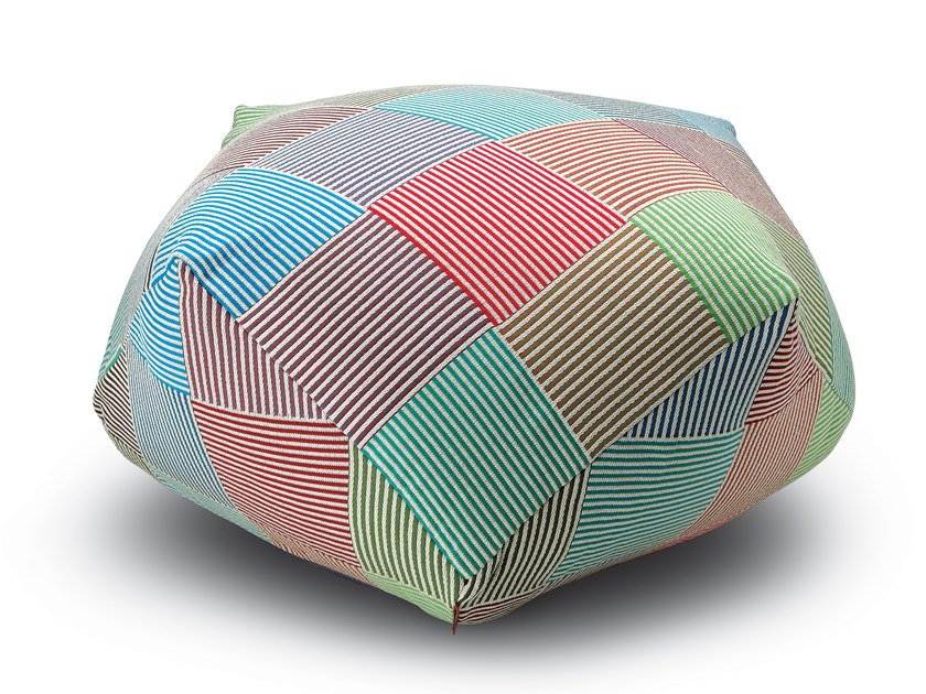 Upholstered Trevira® CS pouf WEMBLEY | Pouf by MissoniHome