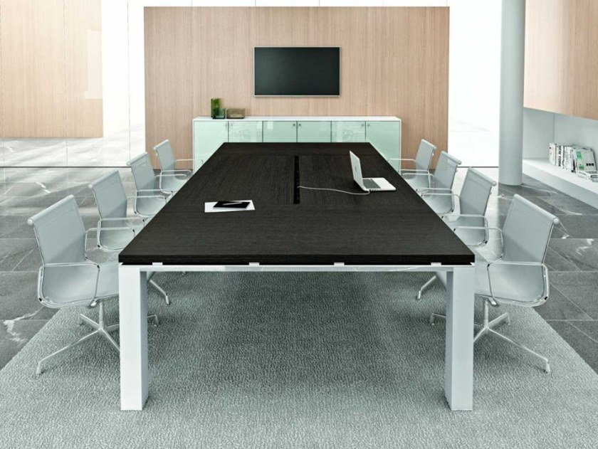 Rectangular meeting table JET EVO | Meeting table by Bralco
