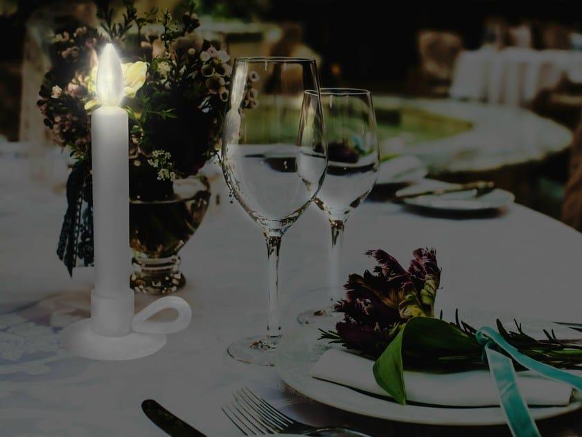 LED porcelain table lamp WERSAILLES LE BOUGEOIR by Beau & Bien