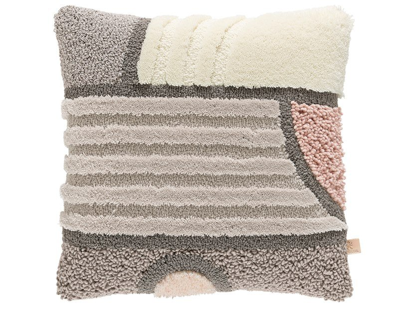 Square wool cushion WEST OF THE SUN | Cushion by Kasthall