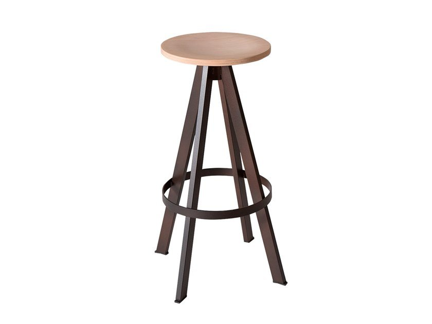 Wooden barstool WEST | Wooden stool by Vela Arredamenti