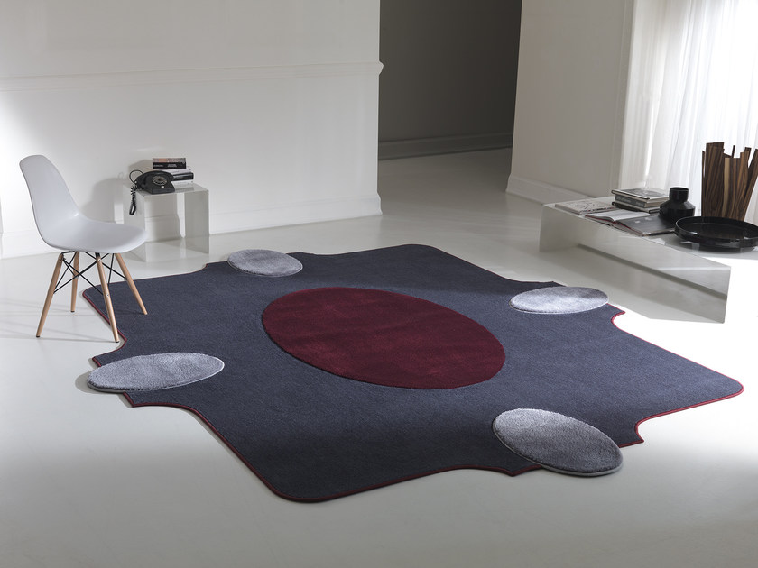 Fabric rug with geometric shapes WESTMINSTER by Besana Moquette