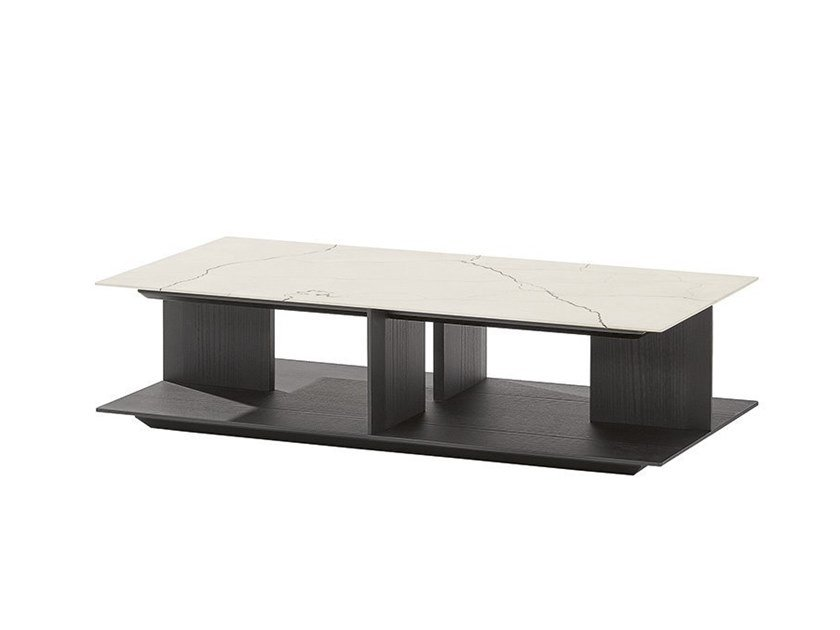 Low marble coffee table WESTSIDE | Coffee table by Poliform