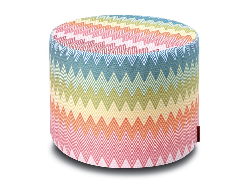 Upholstered round Trevira® CS pouf WEYMOUTH   Pouf by MissoniHome