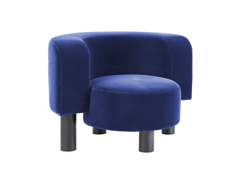 Velvet easy chair WHAM by pulpo