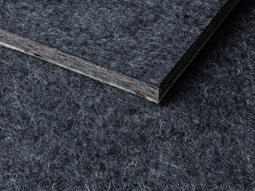 Sheep's wool acoustic panel WHISPERWOOL ANTHRACITE by Tante Lotte