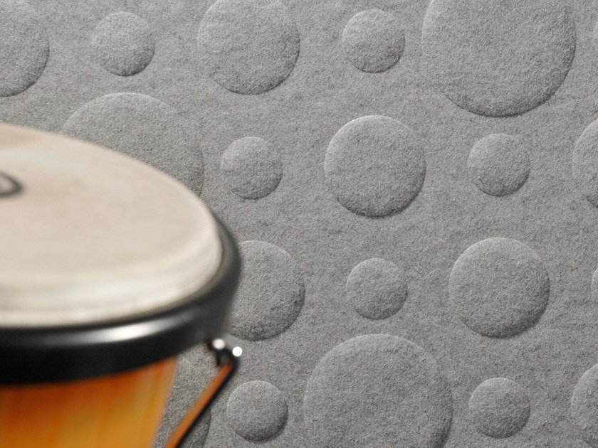 Sheep's wool decorative acoustic panel WHISPERWOOL DOTS by Tante Lotte