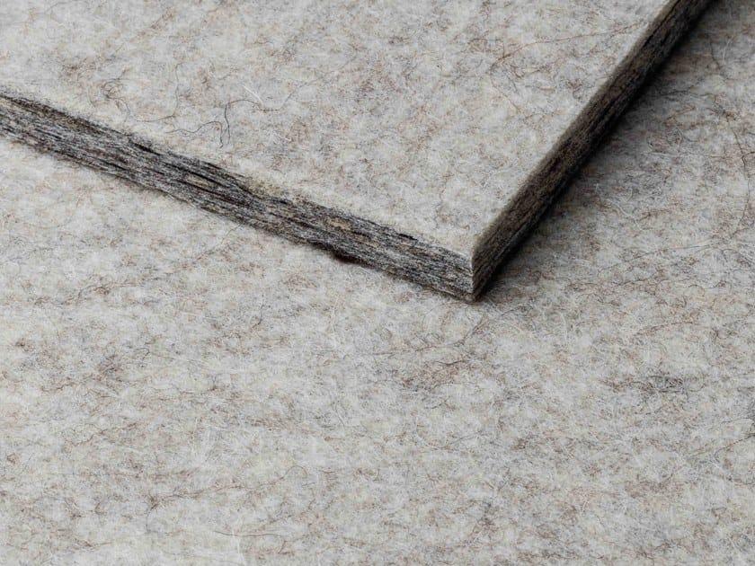 Pannello acustico in lana di pecora per rivestimenti WHISPERWOOL NATURAL WHITE by Tante Lotte